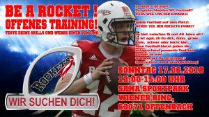 Rhein-Main Rockets Offenbach Offenes Training @ Sana Sportpark   Offenbach am Main   Hessen   Deutschland